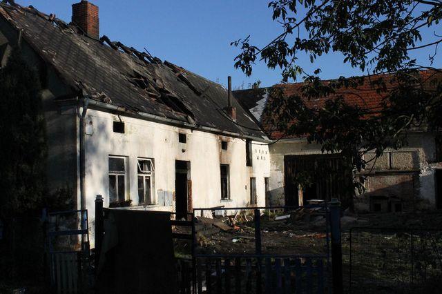Požár domu v Kokašicích
