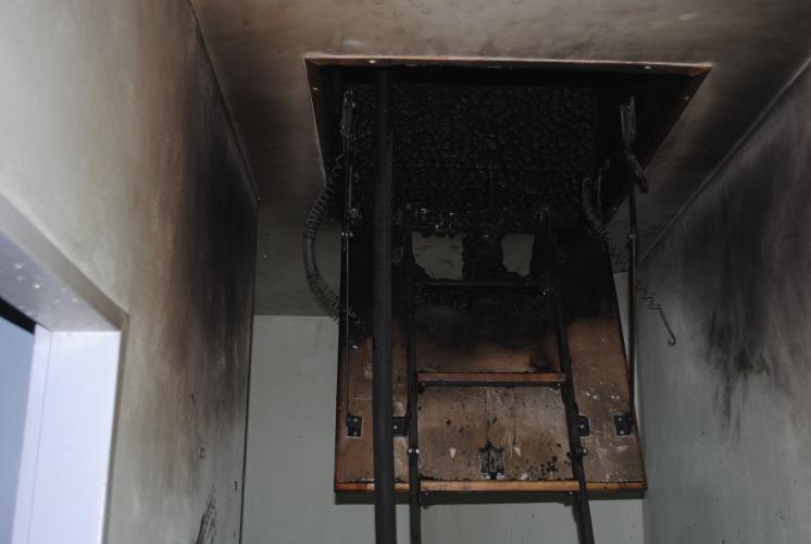 Požár RD v Heřmanově Městci.