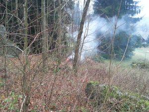 Nebezpečný oheň v lese