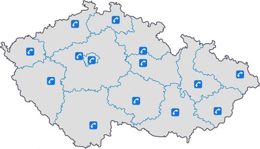 Mapka krajů
